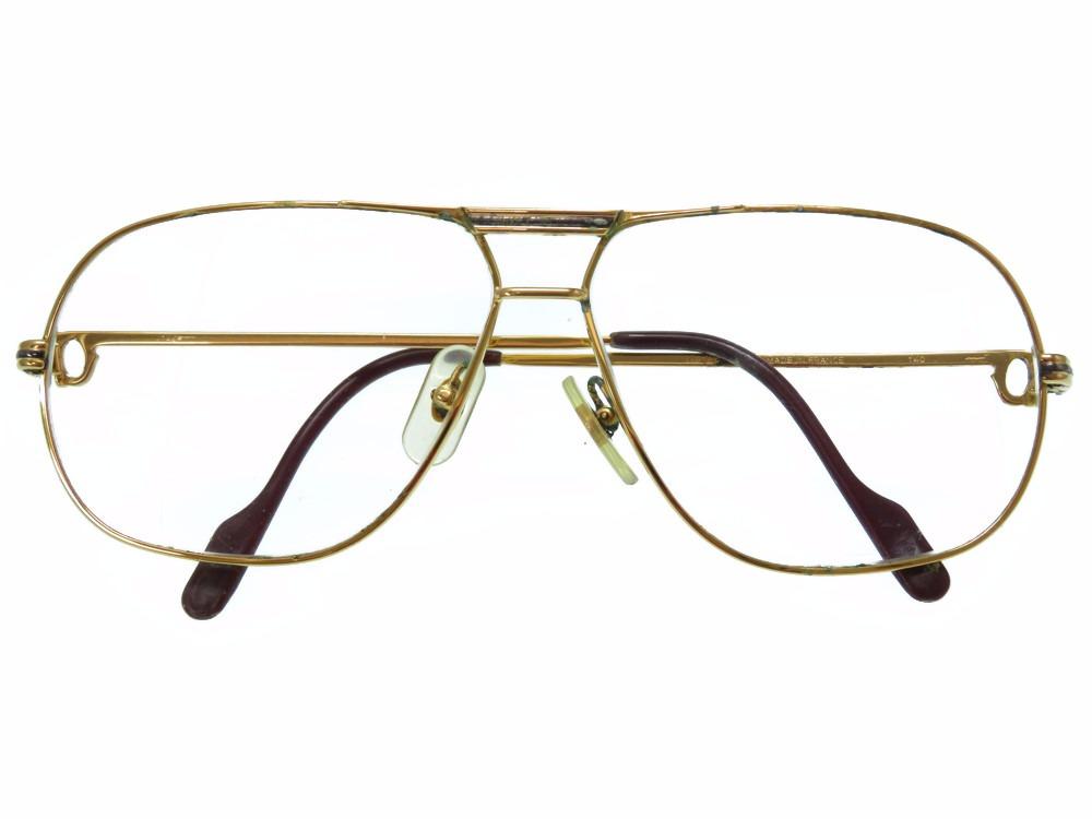 カルティエ トリニティ メガネ サングラス アイウェア ゴールド 眼鏡 0110【中古】CARTIER