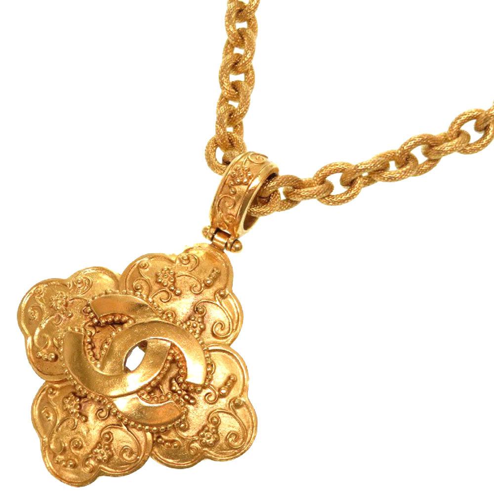 美品 シャネル ヴィンテージ ココマーク 96A ゴールドチェーン チョーカー ネックレス アクセサリー 0054 【中古】 CHANEL