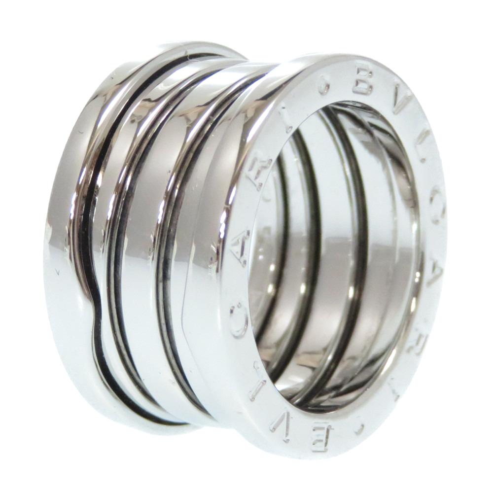 新品同様 ブルガリ ビーゼロワン K18WG 3バンド Mサイズ リング 750 指輪 ホワイトゴールド 48サイズ 0319【中古】BVLGARI アクセサリー