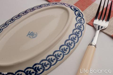 ドイツ ブンツラウワー陶器 ハイゼ陶器 フィッシュプレート (ツィッグ)