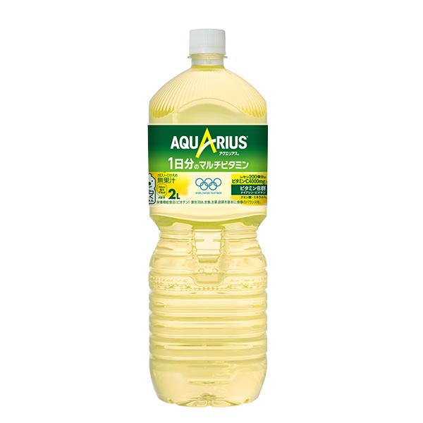 1日分のマルチビタミンが水分補給と同時に手軽に摂れる レモン50個分のビタミンC1000mgと1日分のビタミンB群 ナイアシン ビオチン を配合 ミネラル 当店限定販売 アクエリアス PET 1日分のマルチビタミン 6本入 交換無料 クエン酸入り 2L