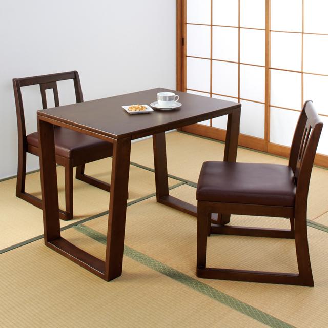 【代金引換不可】楽RAKUダイニングテーブル+チェア2脚組