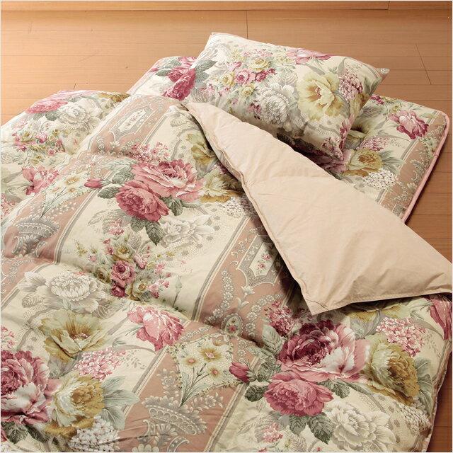 日本製 英国産フェザー掛布団寝具 シングル7点セット