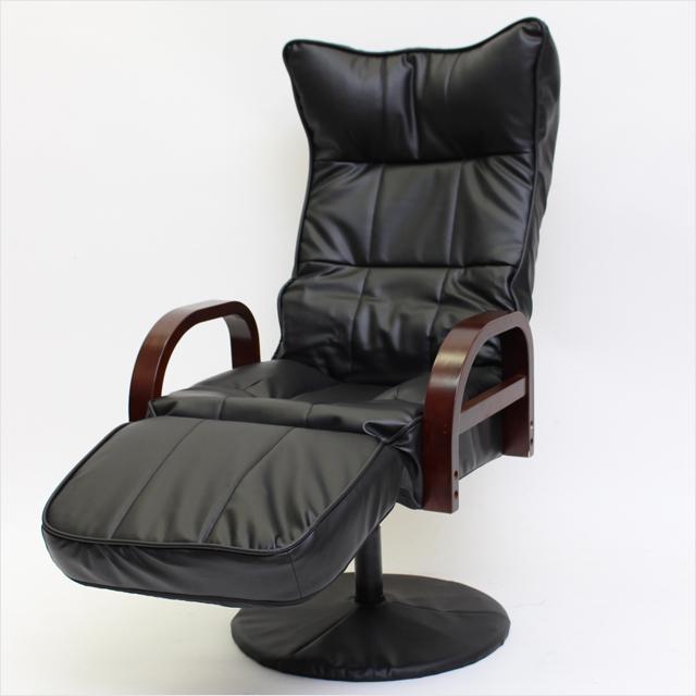 リクライニング付き回転座椅子 フットレスト付きハイタイプ