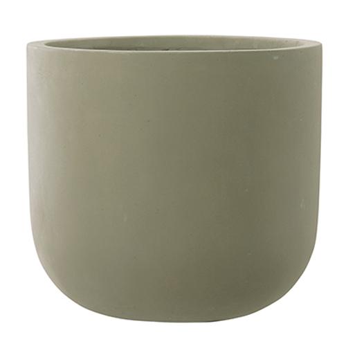 植木鉢 大型 おしゃれ 軽量 ファイバーセメント製 40cm スタウト Uポット マットセメント 13号