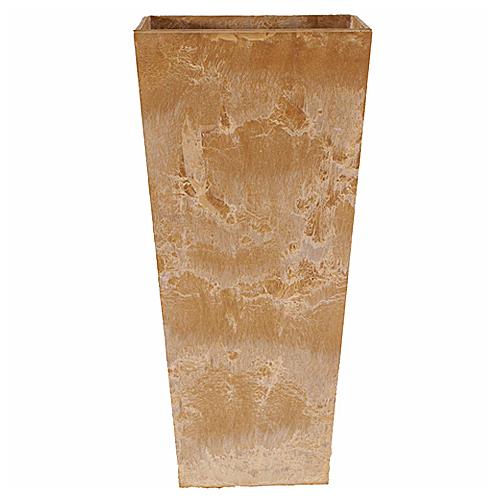 軽量で貯水機能性に優れたおしゃれなポット オランダから発信 高級品 アートストーン トールスクエア 底栓付 100%品質保証! ベージュ 26cm×H49cm 底面給水型植木鉢