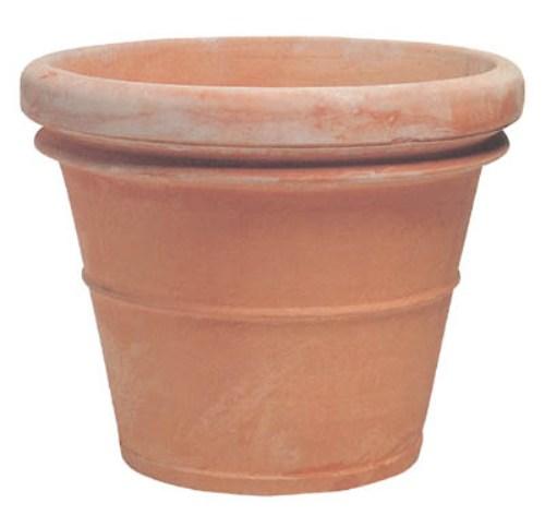 植木鉢 大型 イタリア製 テラコッタ鉢 リムポット 60cm ラウンド 屋外用 (大型貨物扱い)