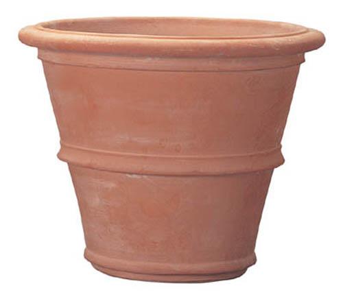 植木鉢 大型 イタリア製 テラコッタ鉢 ツリーポット 58cm ラウンド 屋外用 (大型貨物扱い)