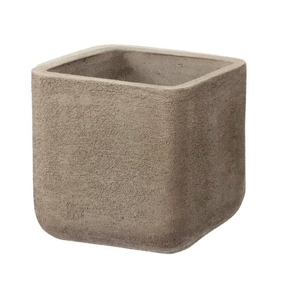 植木鉢 大型 テラコッタ(素焼鉢)ミューズ スクエアー モカ 茶色 □40cm×H40cm(13号 13寸)