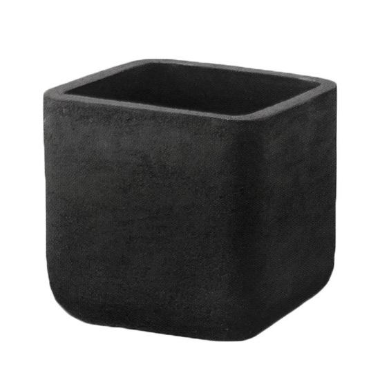 植木鉢 大型 テラコッタ(素焼鉢)ミューズ スクエアー ダークブラック 黒 □40cm×H40cm(13号 13寸)