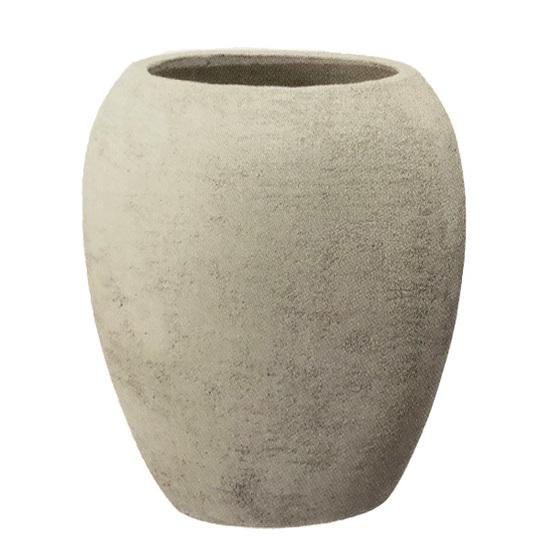 【送料無料】植木鉢 大型 テラコッタ(素焼鉢)ミューズ ジャー アイボリー 白 φ47cm×H53cm(16号 16寸)