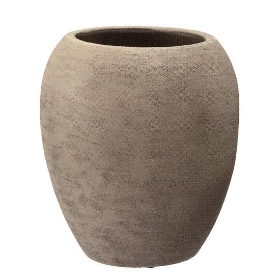 【送料無料】植木鉢 大型 テラコッタ(素焼鉢)ミューズ ジャー モカ 茶色 φ47cm×H53cm(16号 16寸)