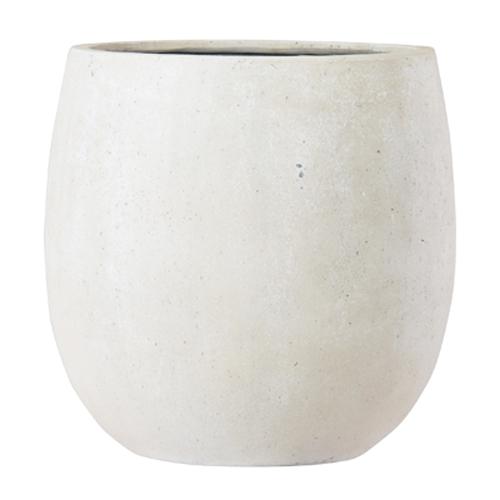 植木鉢 ファイバー製 おしゃれ 軽量 テラニアス 42cm バルーン アンティークホワイト 大型