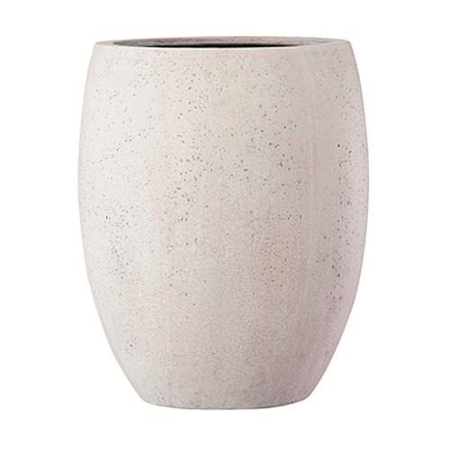 植木鉢 ファイバー製 おしゃれ 軽量 テラニアス 40cm ハイバルーン アンティークホワイト 大型