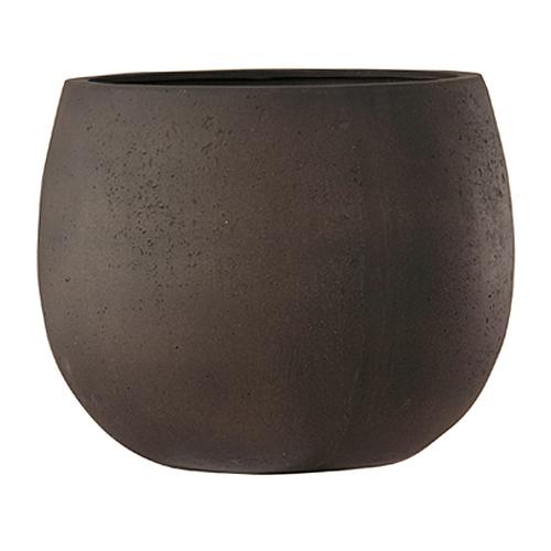 植木鉢 ファイバー製 おしゃれ 軽量 テラニアス 42cm ローバルーン アンティークブラウン 大型