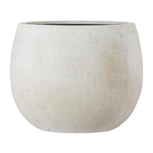 植木鉢 ファイバー製 おしゃれ 軽量 テラニアス 55cm ローバルーン アンティークホワイト 大型