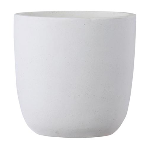 植木鉢 大型 軽量 ファイバークレイ製 バスク 外径51cm ラウンド ホワイト