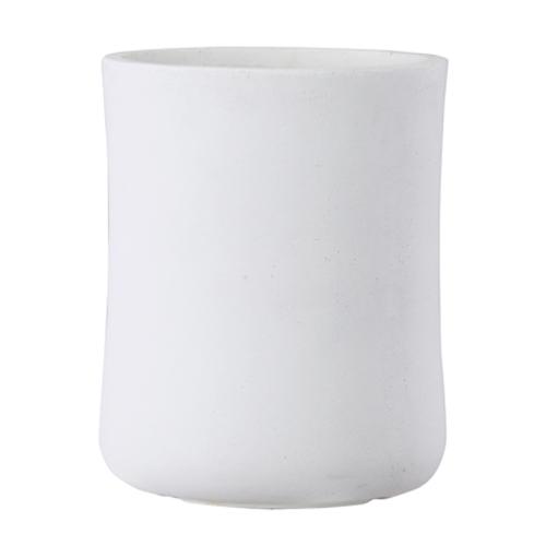 植木鉢 大型 軽量 ファイバークレイ製 バスク 外径37cm ミドル ホワイト