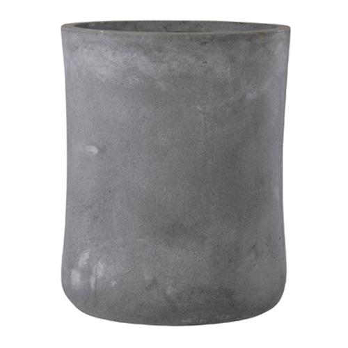 植木鉢 大型 軽量 ファイバークレイ製 バスク 外径44cm ミドル グレー