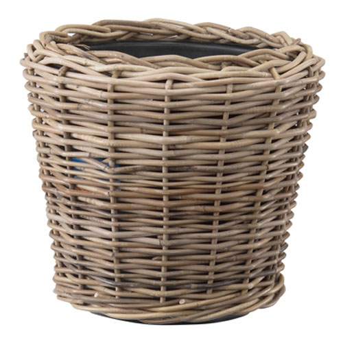 鉢カバー 寄せ植え 観葉植物 手編み 天然素材 丸 人気 おしゃれ ラタンバスケット モンデリック 人気ブレゼント! Φ37cm ラタン 12号
