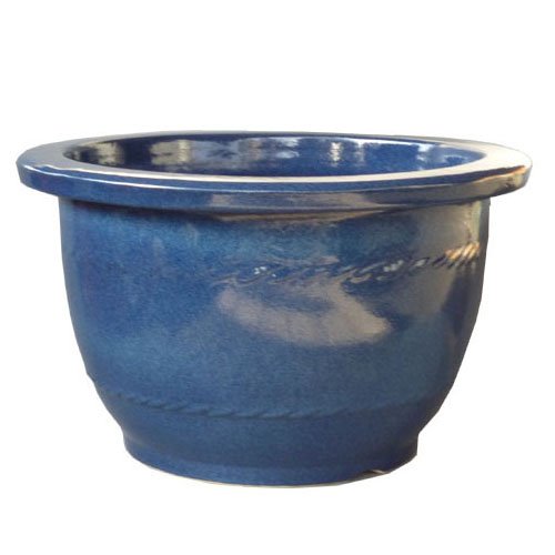 信楽焼 大型生子輪型 20号 /植木鉢