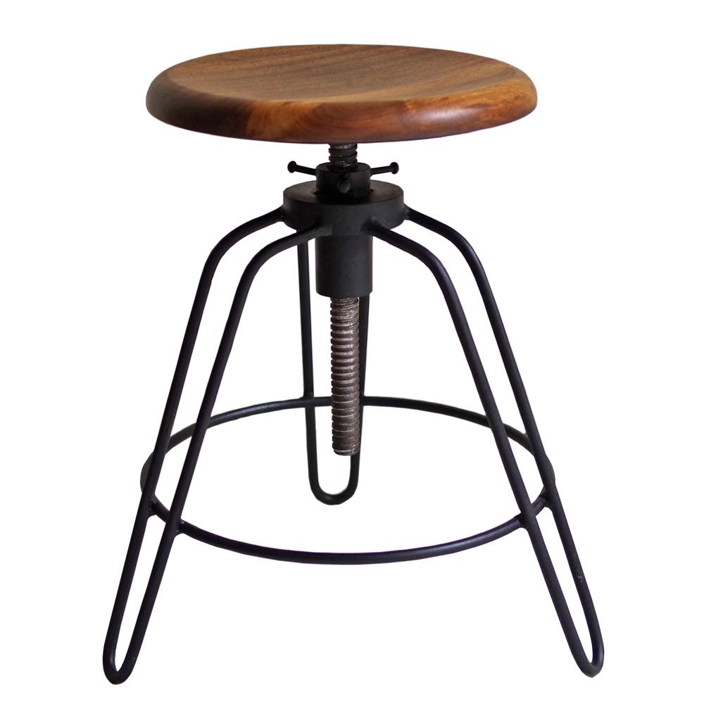 アイアンスツール アイアン 家具 椅子 円形 丸イス スツール 昇降