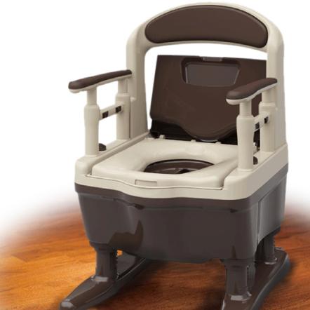 『ポータブルトイレ/介護トイレ』 安寿 ジャスピタ アロン化成 【送料無料】 ポータブルトイレ標準便座タイプ 安寿独自のドルフィンカット形状で理想の排泄姿勢に♪