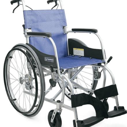 カワムラサイクル 最軽量 車椅子 ■ KF22-40SB ■ メーカー直送 送料無料【代引不可】 アルミ製 軽量 【カワムラ/ 自走 介助 兼用 車いす 】 ふわりすシリーズ
