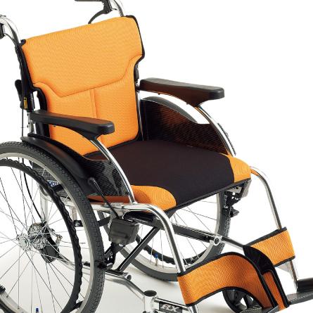 【送料無料】MIKI アールエックスシリーズ RX-1 自走型 車椅子 【メーカー直送】介助用ブレーキ 背折れジョイント 折りたたみ 個性的 車いす