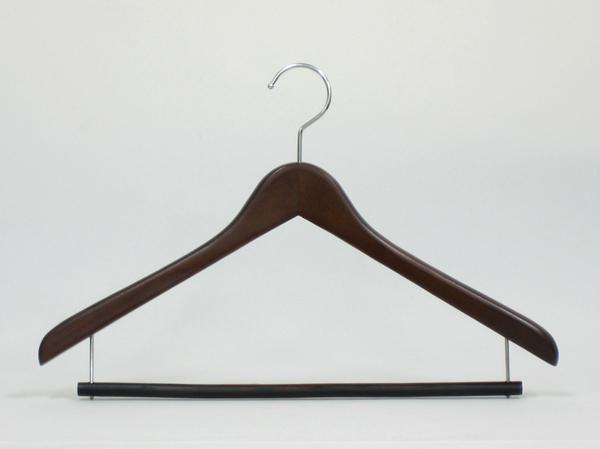 木製スライドハンガー ブラウン(50本組)
