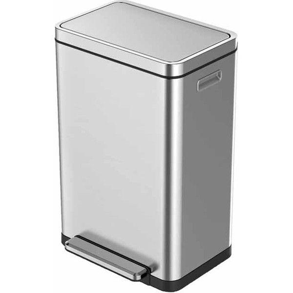 防臭に徹底的にこだわったゴミ箱 ステンレス表面はナノ抗菌加工が施されており インナーボックスのプラスチックも抗菌処理がされています X-CUBE STEP BIN エックスキューブ ステップビン 20L EKO 最安値に挑戦 JAPAN くず入れ ゴミ箱 リビング フタ付き シルバー ペール キッチン オフィス ステンレス 正規代理店 永遠の定番モデル ダストボックス