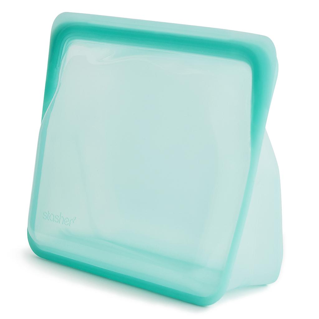 新品未使用正規品 贈与 デイリーで使える便利な保存容器 stasher デイリーアクアセット 保存容器 密閉 冷凍OK 耐熱 ピュアプラチナシリコーン100% 加熱