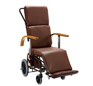 車椅子 車いす 車イス 送料無料 フルリクライニングキャリー FC-120/レザーシートタイプサイドスカートなし 【ピジョンタヒラ】【smtb-KD】