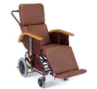 車椅子 車いす 車イス 送料無料 フルリクライニングキャリー FC-120/レザーシートタイプサイドスカート付 【ピジョンタヒラ】【smtb-KD】