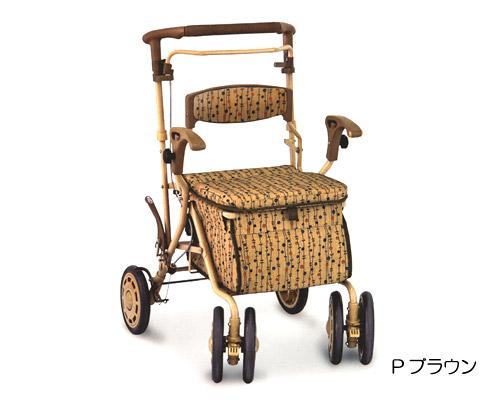 楽歩デュオDX  島製作所(手押し車 老人 ショッピングカート 4輪 老人 手押し 車)(介護用品 歩行器 介護 高齢者 歩行器 シルバー)
