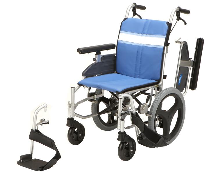 車椅子 軽量 アルミ介助用モジュール車いす NA-3DX 日進医療器(車椅子 車いす 車イス)