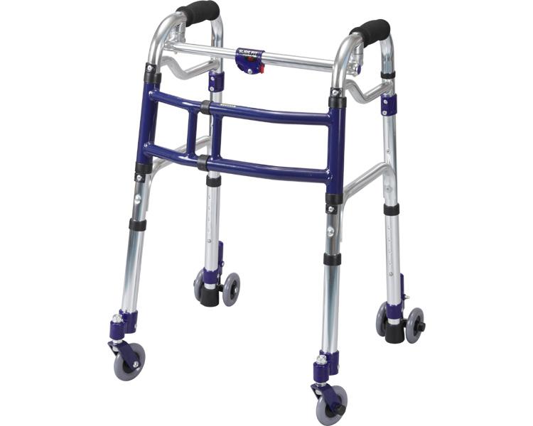 スライドフィット 3インチキャスター ミニタイプ 室内専用 / M-0193C ユーバ 四輪歩行器(介護用品 歩行器 介護 高齢者 歩行器 シルバー)