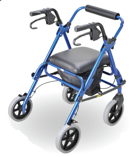 歩行補助車 プロスマート / T-9006 ブルー テツコーポレーション(手押し車 老人 ショッピングカート 4輪 老人 手押し 車 シルバー)(介護用品 歩行器 介護 高齢者 歩行器 シルバー)