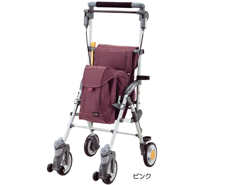 キャリースルーンHi マキライフテック(手押し車 老人 ショッピングカート 4輪 老人 手押し 車 シルバー)(介護用品 歩行器 介護 高齢者 歩行器 シルバー)
