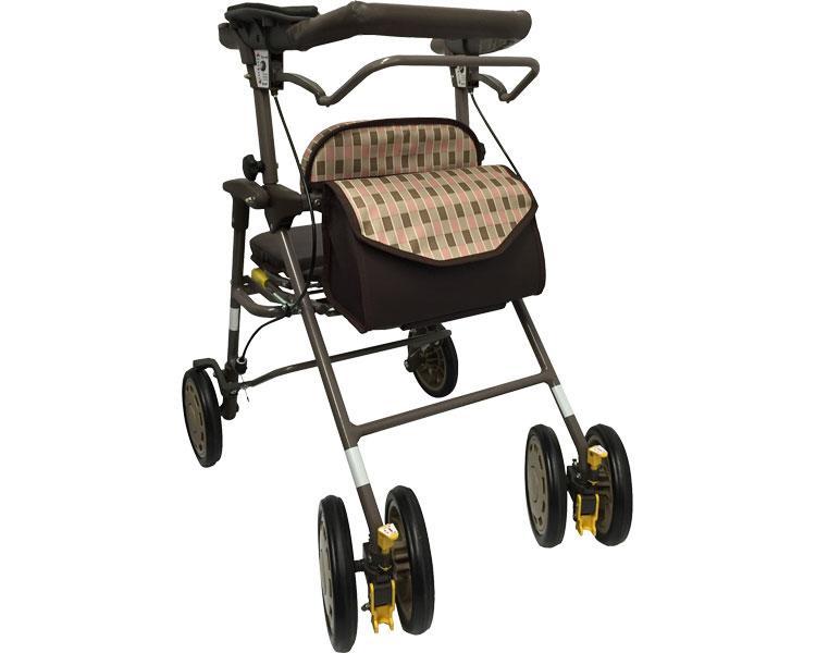 シンフォニーAR 島製作所(手押し車 老人 ショッピングカート 4輪 老人 手押し 車 シルバー)(介護用品 歩行器 介護 高齢者 歩行器 シルバー)