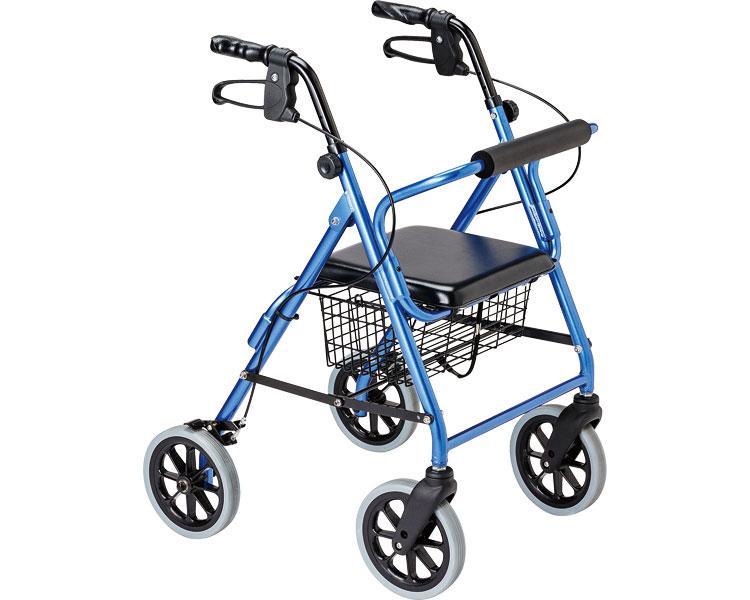 四輪歩行器 ハッピーIINB(ハッピー2NB シルバー) 竹虎ヒューマンケア (介護用品 歩行器 介護 高齢者 歩行器 シルバー)