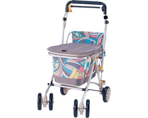 ヘルスバッグわくわくタントN 象印ベビー歩行器シルバーカーショッピングカート(介護用品 歩行器 介護 高齢者 歩行器 シルバー)