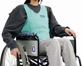 車いす用ワンタッチベルト キーパーII(葛城織) / 02036570 グリーン×イエロー【路加☆☆】