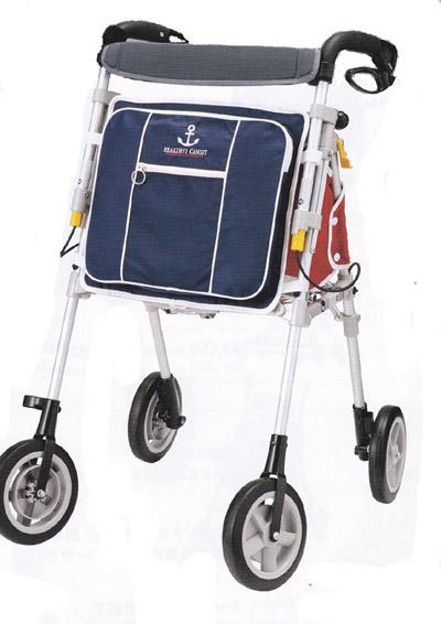 シルバーカー ヘルシーワンキャンシット75 (マリン シルバー) 象印ベビー 手押し車 老人 ショッピングカート 歩行器