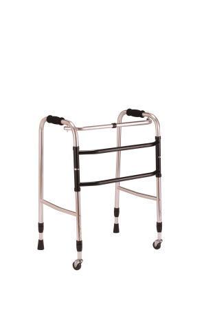 交互歩行器AL-100折り畳み型 クリスタル産業(介護用品 歩行器 介護 高齢者 歩行器 シルバー)