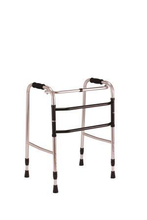 交互歩行器 AL-105 折り畳み型 クリスタル産業(介護用品 歩行器 介護 高齢者 歩行器 シルバー)