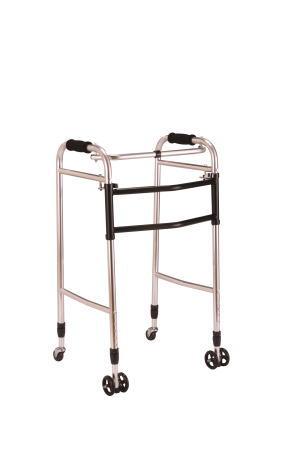 歩行器ウォーカーAL-117 交互/固定兼用折り畳み型 クリスタル産業 固定型歩行器交互歩行器(介護用品 歩行器 介護 高齢者 歩行器 シルバー)