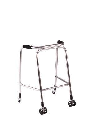 歩行器UラインウォーカーAL-126 クリスタル産業 固定型歩行器(介護用品 歩行器 介護 高齢者 歩行器 シルバー)