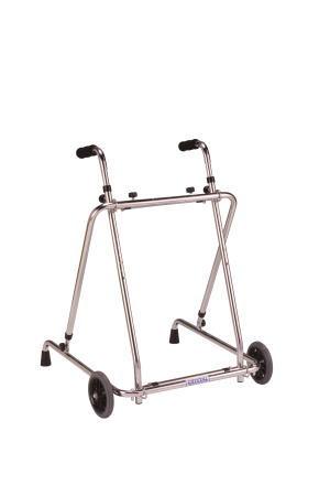 歩行車 ローレーターAL-135折り畳み型 クリスタル産業 固定型歩行器(介護用品 歩行器 介護 高齢者 歩行器 シルバー)