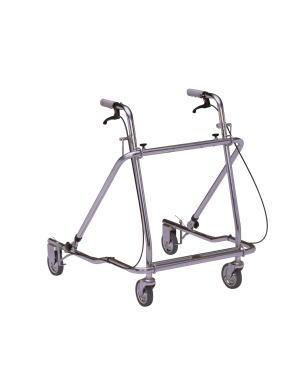 歩行車 ローレーターAL-137折り畳み型 クリスタル産業 四輪歩行器(介護用品 歩行器 介護 高齢者 歩行器 シルバー)